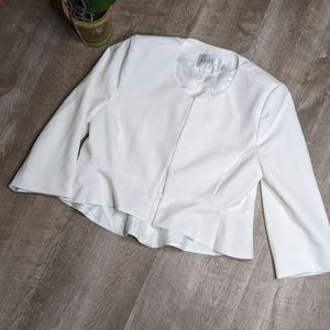 Luxe by Seraphine White Ruffle Jacket